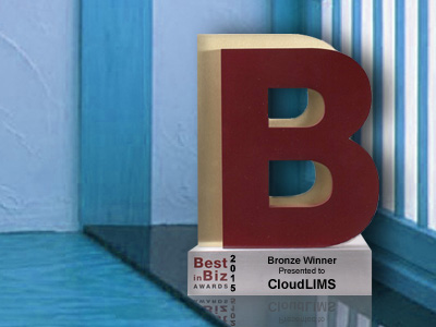 CloudLIMS Best in Biz Award