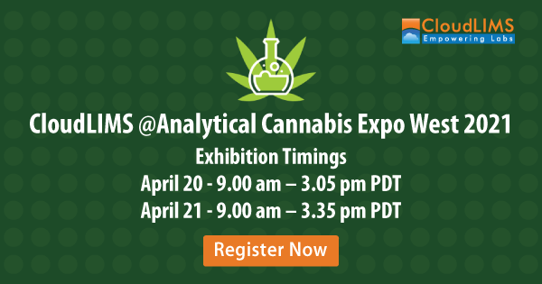 CloudLIMS at Analytical Cannabis Expo West 2021