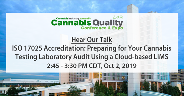 CloudLIMS at Cannabis Quality Conference & Expo
