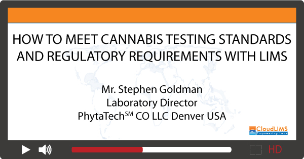 Medical Cannabis Testing Laboratory LIMS