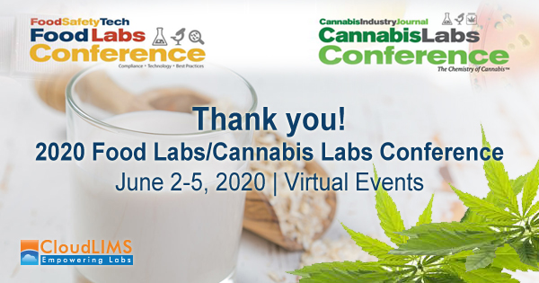 CloudLIMS Talks at 2020 Food Labs/Cannabis Labs Conference