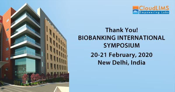 CloudLIMS at the Biobanking International Symposium 2020