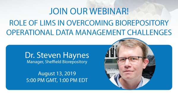 Webinar on biobanking data management challenges