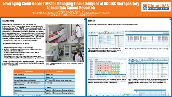 ISBER 2019 Poster - Leveraging Cloud-based LIMS for Managing Tissue Samples at RGCIRC Biorepository
